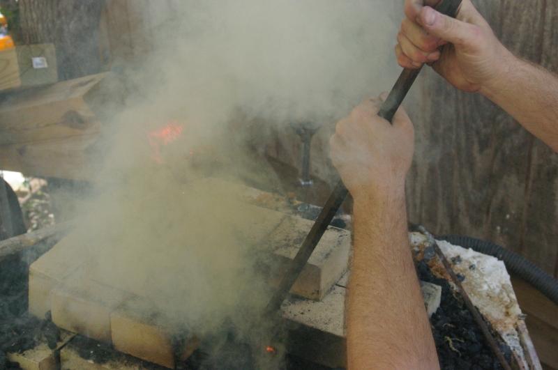 smoke from coal