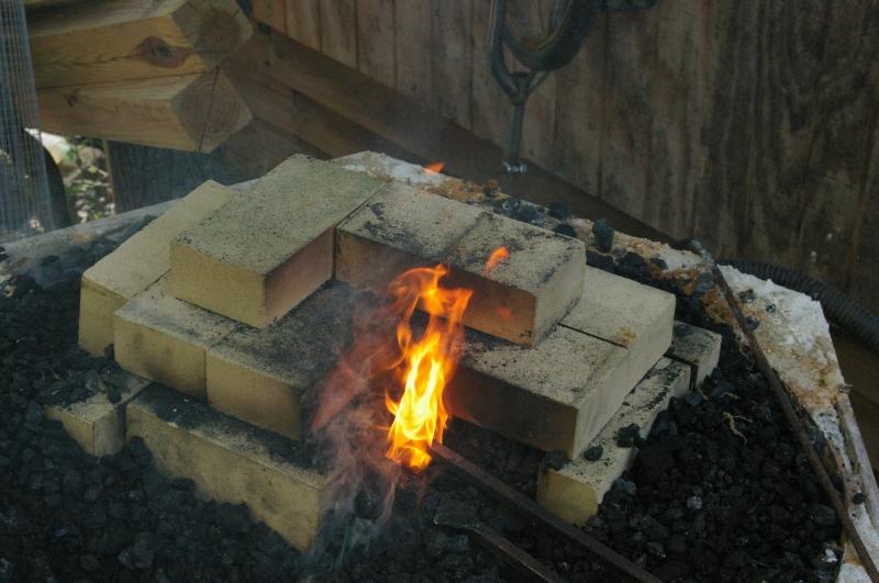 Forge burning coal