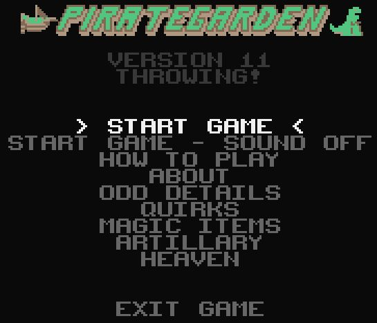 Game Title Page