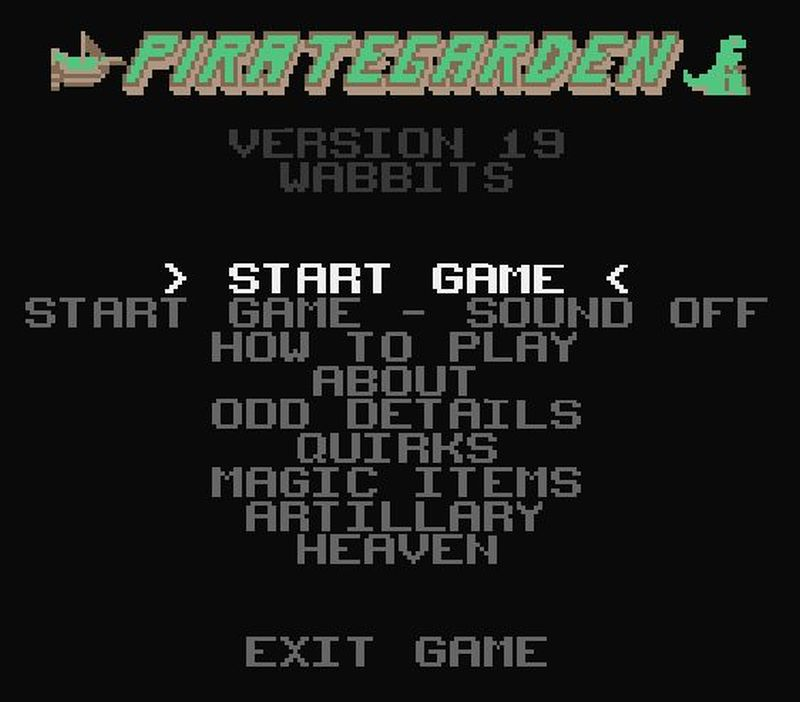 PirateGarden version 19 Title Screen