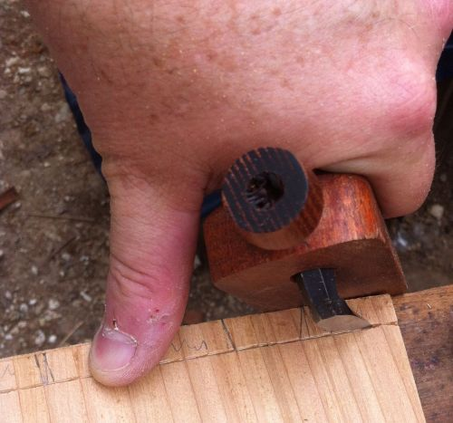 Carving Gauge in Use