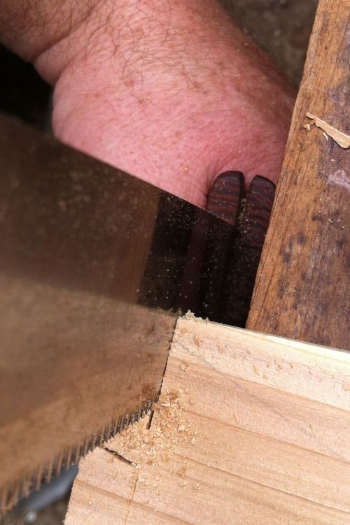 Sawing Dovetail end