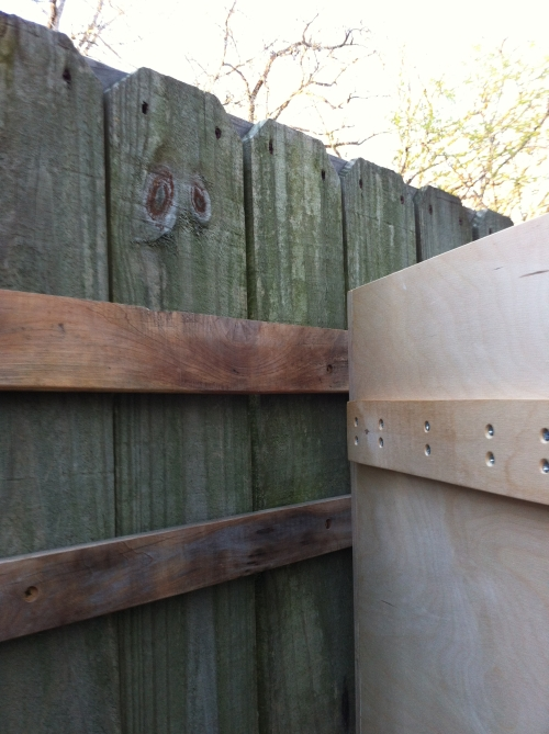 French Cleat on Fence and Box